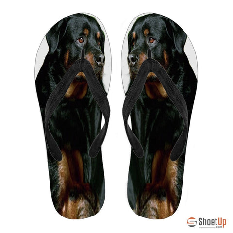 Rottweiler Flip Flops For Women-Free Shipping