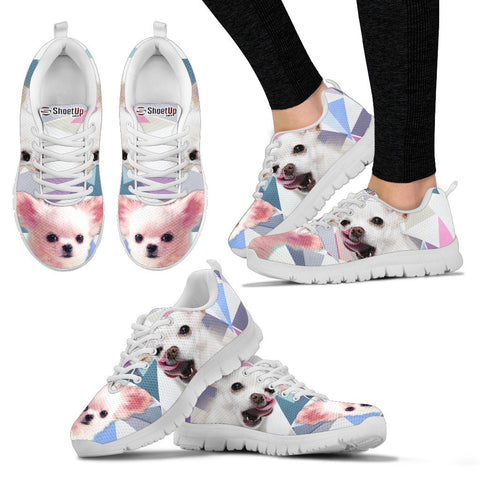 Cute White Chihuahua Women Running Shoes - Free Shipping