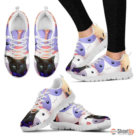 Margaret Hennessee/Cat-Running Shoes For Women-3D Print-Free Shipping