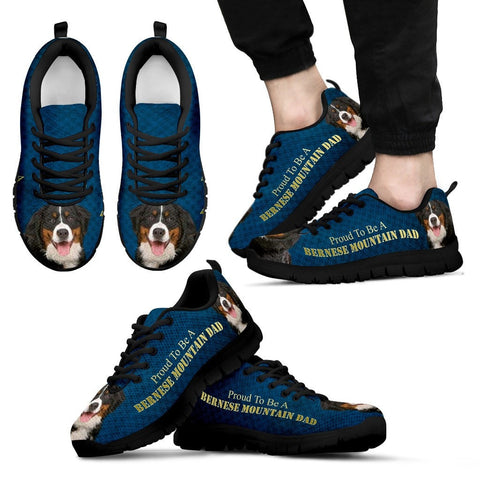 'Proud To Be A Bernese Mountain Dad' Men Sneaker Shoes - Free Shipping