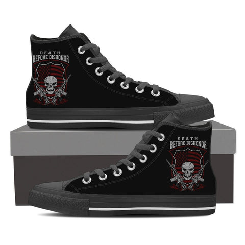 Death Before Dishonor -Canvas High Tops- Free Shipping