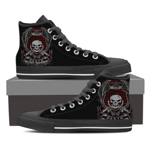 God, Guns, Guts and Glory - Limited Edition Men's Canvas High Tops- Free Shipping