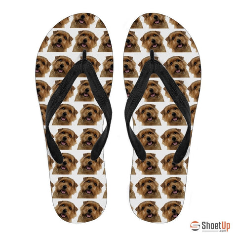 Norfolk Terrier Men Flip Flops - Free Shipping