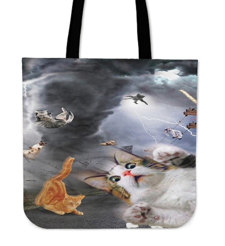 Screaming Cats 3D Printed-Tote Bag-Free Shipping