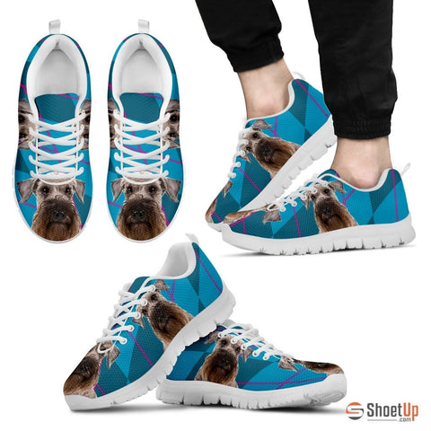 Cesky Terrier Dog (White/Black) Men Running Shoes - Free Shipping