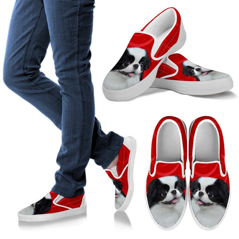 Japanese Chin Print Slip Ons For Women-Express Shipping