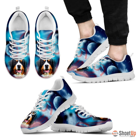 Bernese Mountain Dog Print Running Shoe For Men- Free Shipping