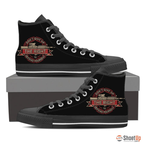 Don't Give Up- Men's Canvas High Tops- Free Shipping