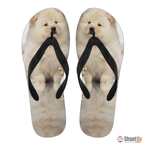 Chow Chow Puppy Flip Flops For Men-Free Shipping