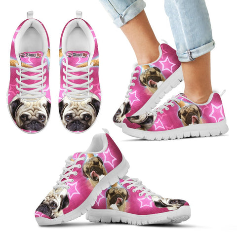 Cute Pug Kids Running Shoes - Free Shipping