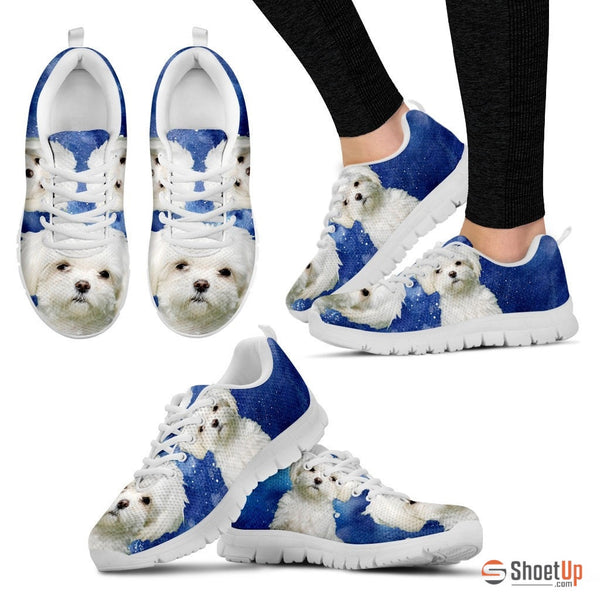 Maltese-Dog Running Shoes For Women-Free Shipping