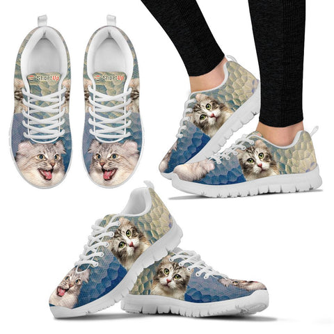 American Curl Cat (Halloween) Print-Running Shoes - Free Shipping