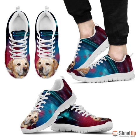 Labrador Dog Print Running Shoe For Men- Free Shipping