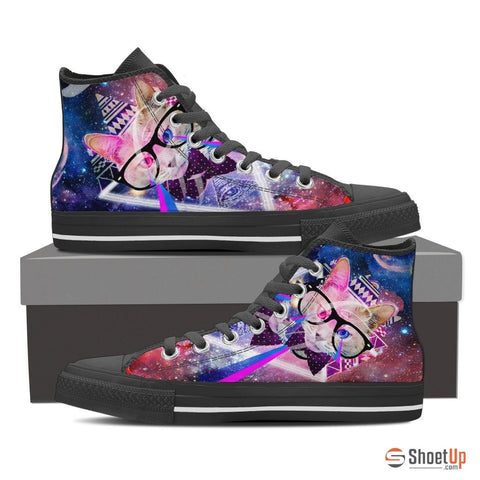 Cat Women Canvas High Tops- Free Shipping