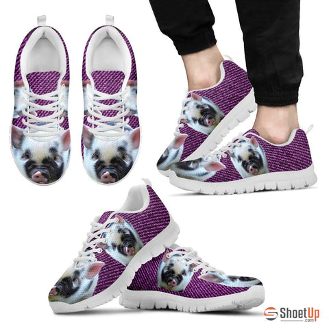 Violet Pig Running Shoes For Men-Free Shipping Limited Edition