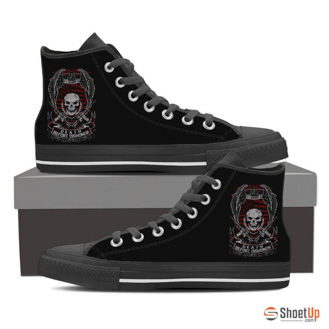 Death Before Dishonor-Women's  Canvas High Tops- Free Shipping