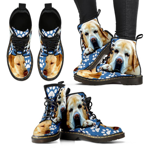 Paws Print Labrador Boots For Women-Express Shipping