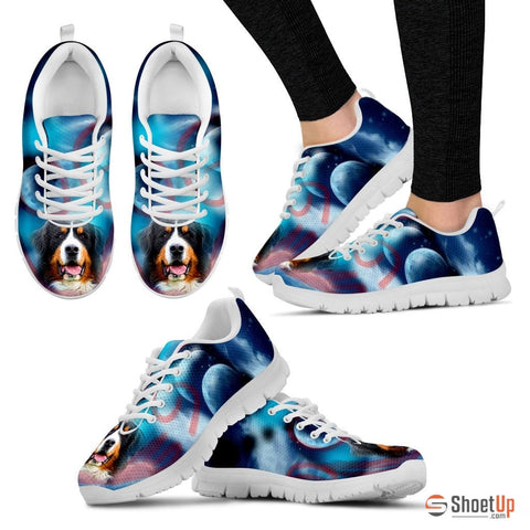 Bernese Mountain Dog Print Running Shoe For Women- Free Shipping