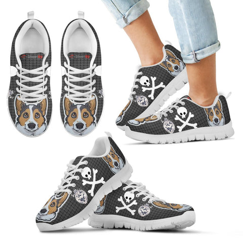 Cardigan Welsh Corgi Happy Halloween Print Running Shoes For Kids/Women-Free Shipping