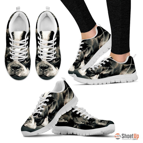 Boston Terrier (Dog) Print Running Shoe Women- Free Shipping