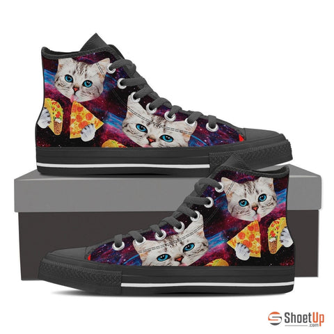 Hungry Cat-Women's Canvas High Tops- Free Shipping