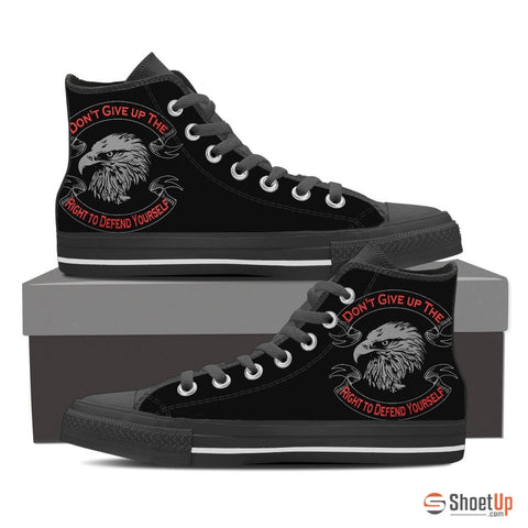 Don't Give up Your Rights - Men' Canvas High Tops- Free Shipping