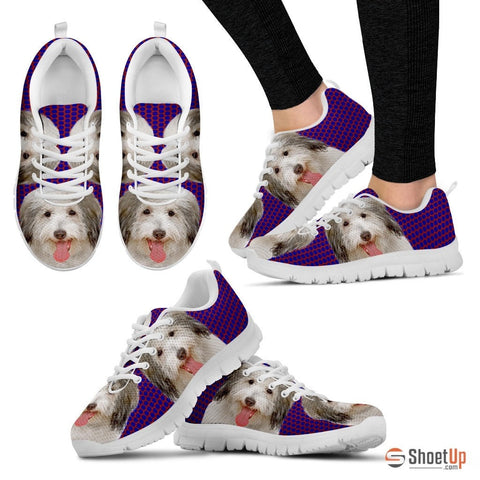 Coton De Tulear Dog (White/Black) Running Shoes For Women-Free Shipping