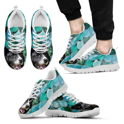 Border Collie-Dog Men Running Shoes - Free Shipping