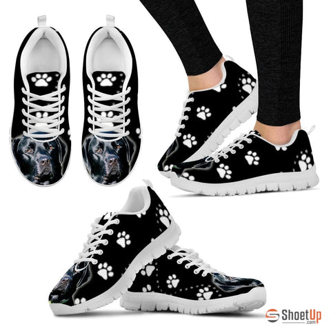 Black Labrador-Dog Running Shoes For Women-Free Shipping