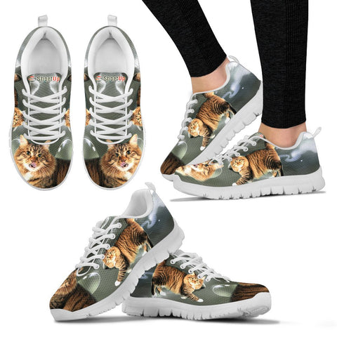 American Bobtail Cat (Halloween) Print-Running Shoes - Free Shipping