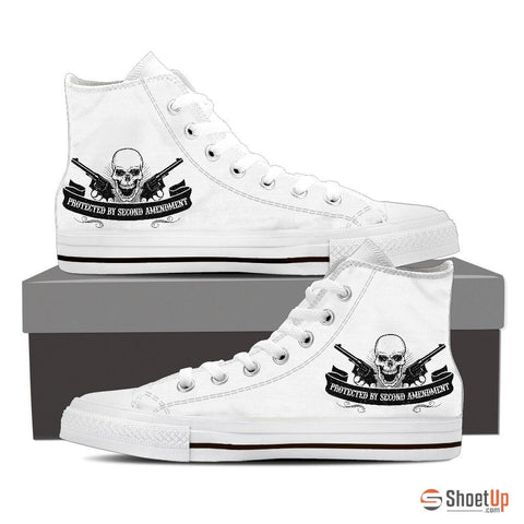 Protected By Second Amendment- Men's Canvas High Tops- Free Shipping