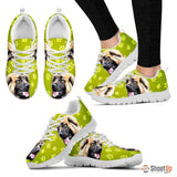 Leonberger Dog Print (Black/White) Running Shoes For Women-Free Shipping
