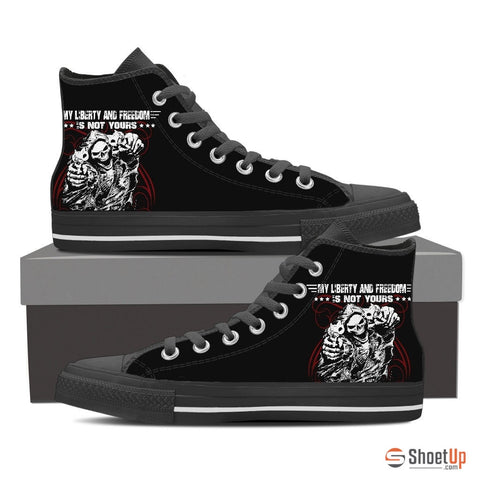Liberty & Freedom - Limited Edition Men's Canvas High Tops- Free Shipping