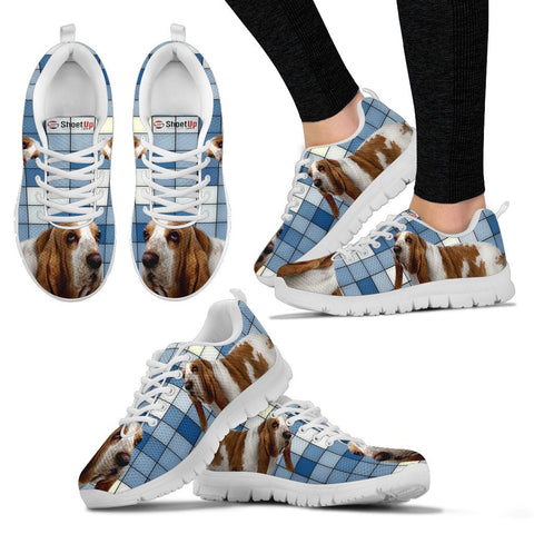 Basset Hound With 3D Blocks Print Running Shoes For Women-Free Shipping