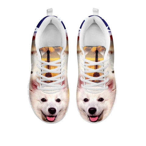 Cute American Eskimo Print Running Shoes For Women- Free Shipping-For 24 Hours Only