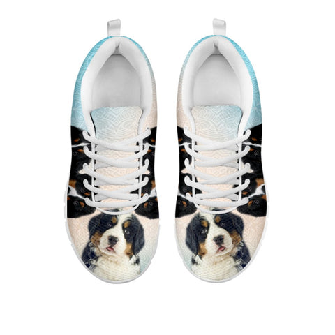 Shoetup - Amazing Three Bernese Mountain Dog Print Running Shoes For Women