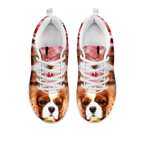 Shoetup - Cute Cavalier King Charles Spaniel Print Sneakers For Women