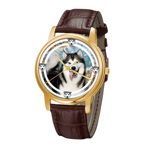 Alaskan Malamute Classic Fashion Wrist Watch- Free Shipping