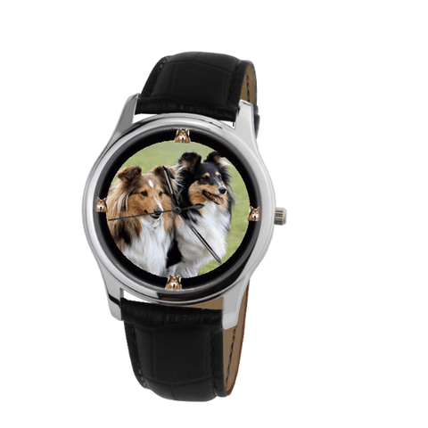 Collie Print Unisex Silver Wrist Watch - Free Shipping