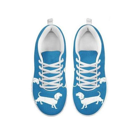 Shoetup Cute Dachshund Dog Print Running Shoes For Women