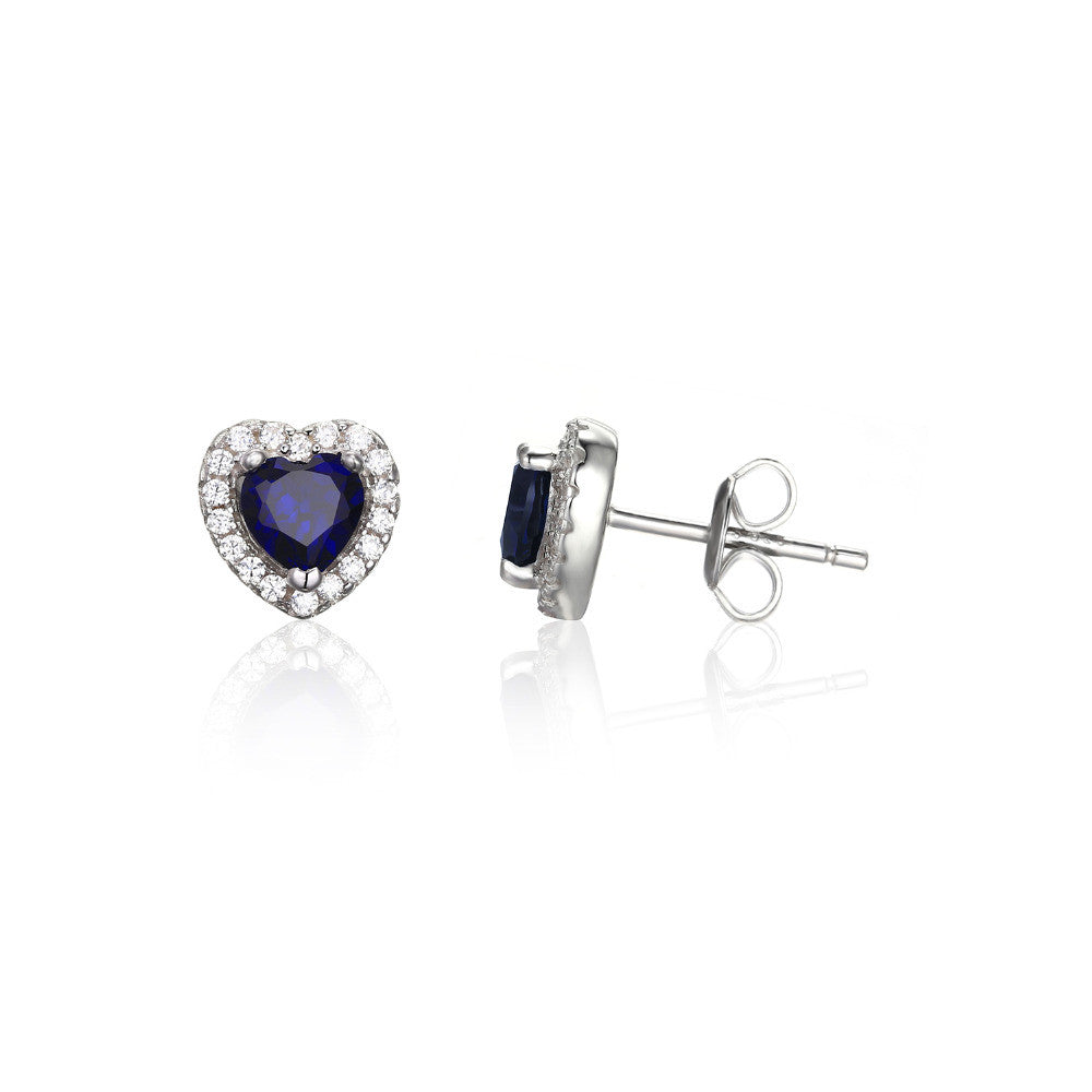 Heart Of The Ocean 1.2ct Created Blue Sapphire Stud Earrings - Get It 4 Me