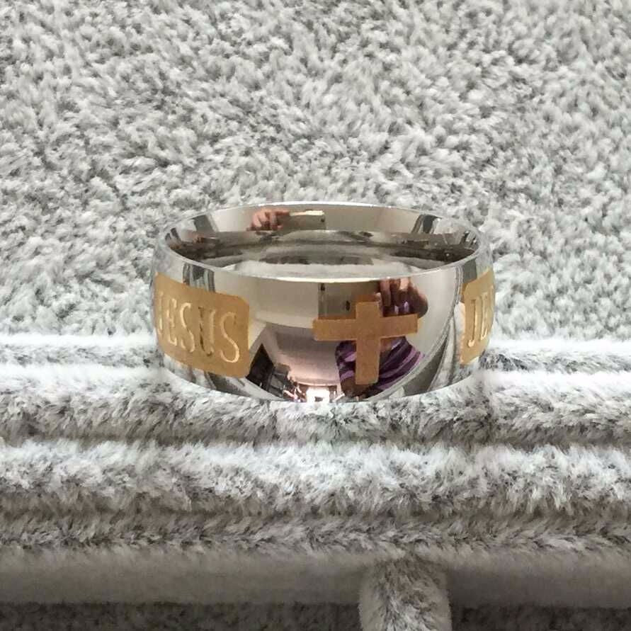 Titanium Steel Jesus Faith Ring