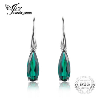Water Drop 4.1ct Emerald Drop Dangle Earrings - Get It 4 Me