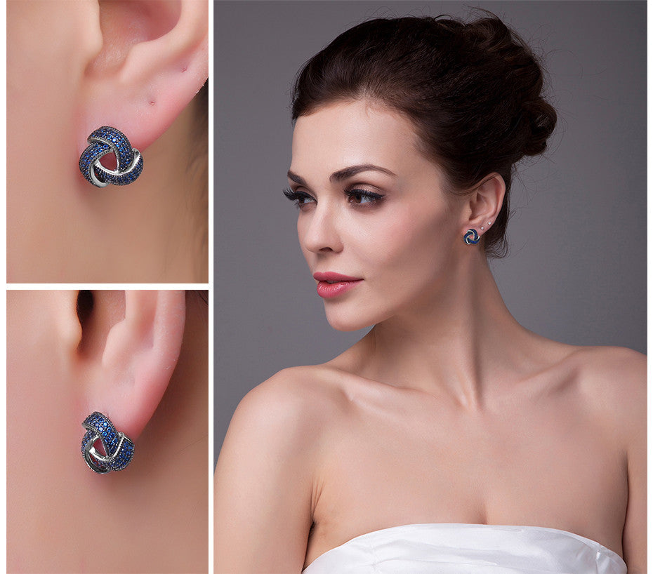 Blue Spinel Flower Studs Earrings - Get It 4 Me