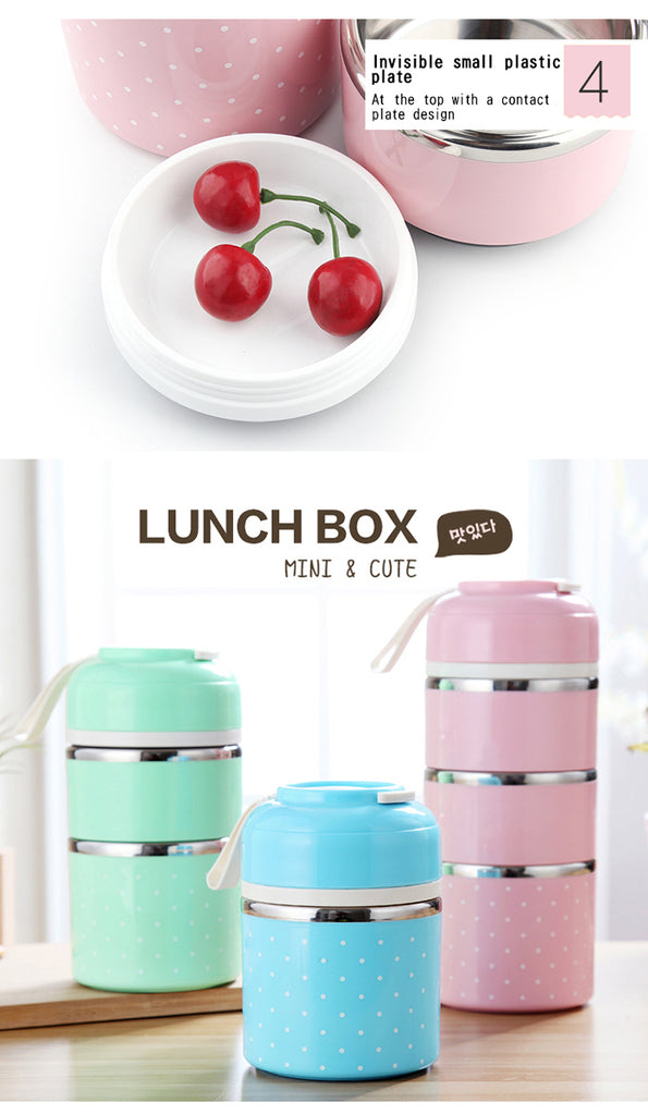 Leak-Proof Stainless Steel Thermal Lunch Boxs