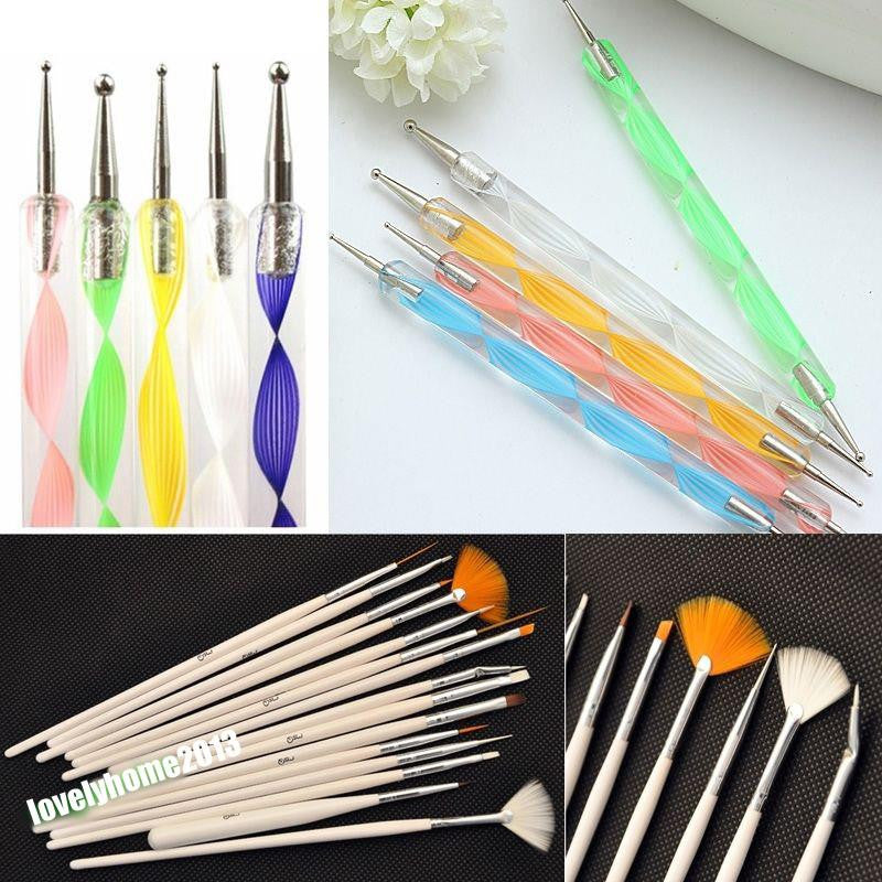 20 Pcs Tool Kit Nail Art Brush Set - Get It 4 Me