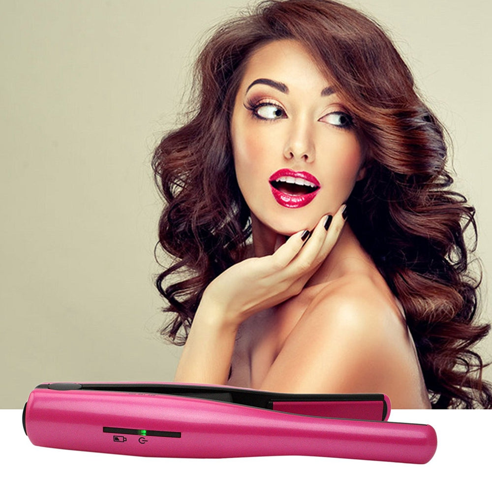 Madami Portable Rechargeable Mini Wireless Hair Straightener Iron
