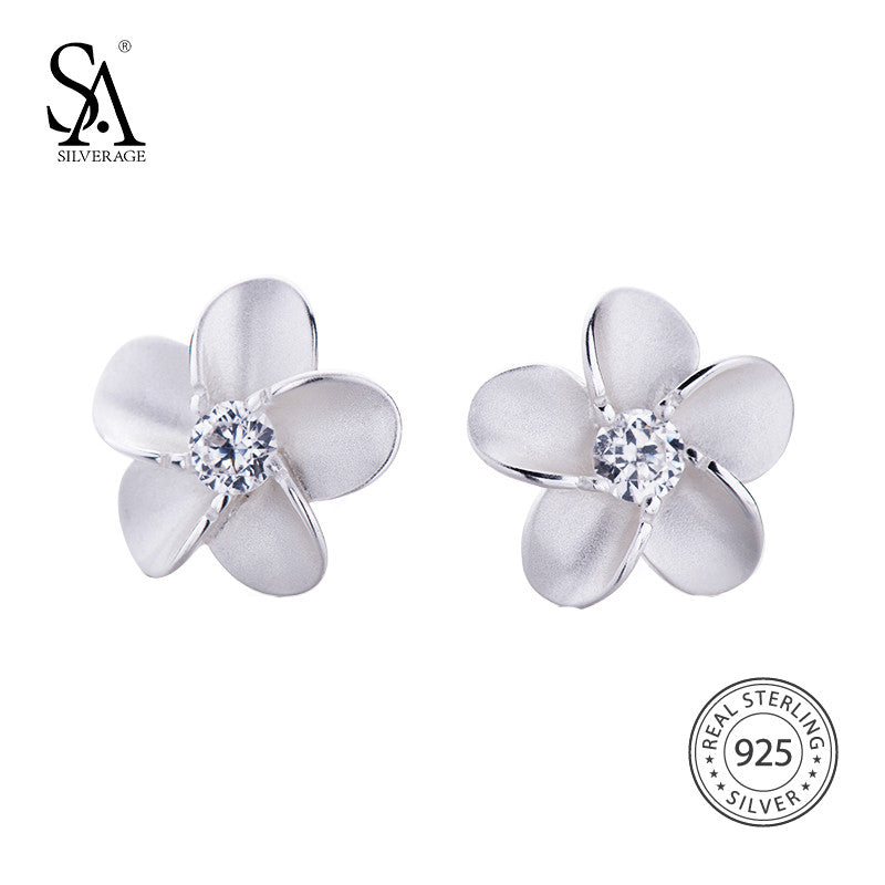 SA SILVERAGE Flower Stud Earrings - Get It 4 Me