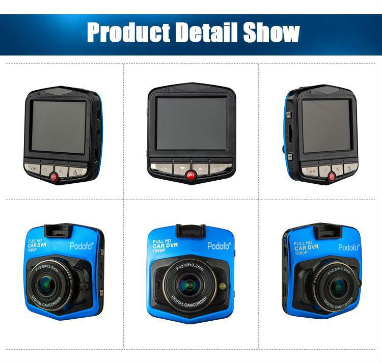 CAR GT300 Full 1080p HD DVR Dash Camera With Night Vision - Black or Blue