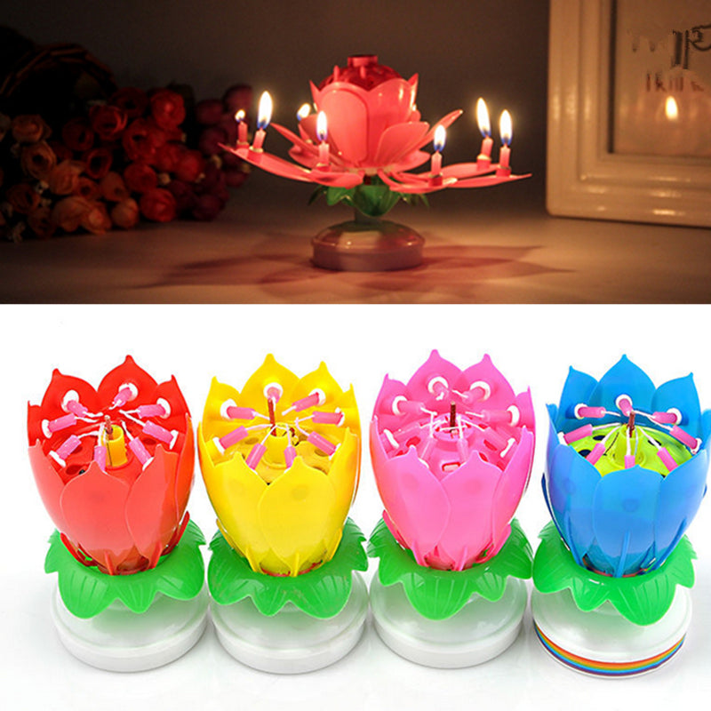 Amazing Musical Lotus Candle